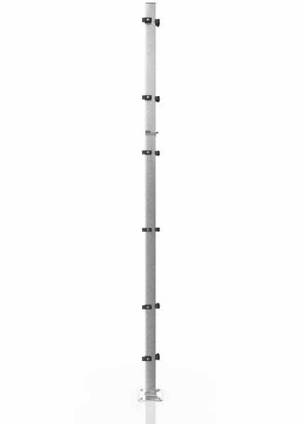 Universal-Eckpfosten ECONFENCE® BASIC LINE ZINK 80x40x3000MM
