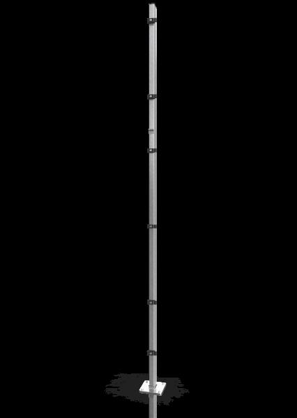 Reihenpfosten ECONFENCE® BASIC LINE ZINK 80x40x3000MM