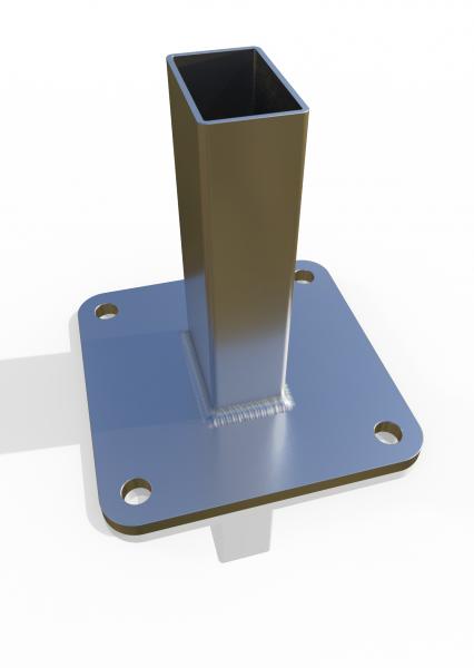 Einsteckfuß für Reihenfosten ECONFENCE® 140x140x8mm