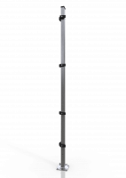 Universal-Eckpfosten ECONFENCE® BASIC LINE ZINK 60x40x2400MM