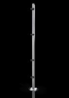 Reihenpfosten ECONFENCE® BASIC LINE ZINK 60x40x2400MM