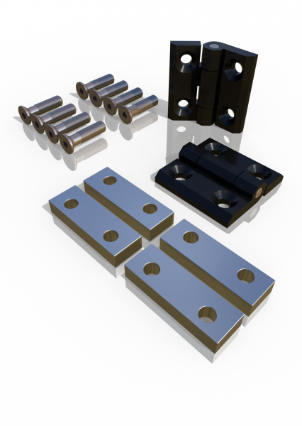 Türscharnier-Set für Drehtür ECONFENCE® Basic Line Zink