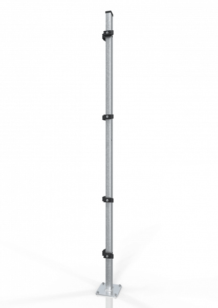 Universal-Eckpfosten ECONFENCE® BASIC LINE ABSTURZSICHERUNG 60x40x2000MM