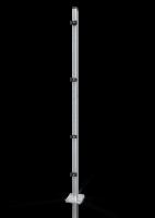 Reihenpfosten ECONFENCE® BASIC LINE ABSTURZSICHERUNG 60x40x2000MM