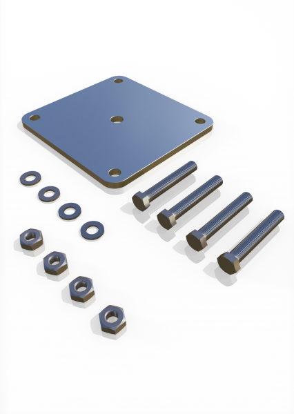 Konterplatten-Set für Pfostenfuß ECONFENCE® BASIC LINE ABSTURZSICHERUNG