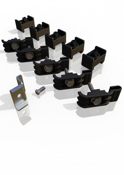 Gitterbefestigung-Set (Einschlagversion) Reihenpfosten ECONFENCE® BASIC LINE