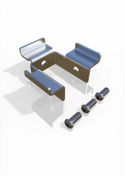Gitterauflage-Set für Eckpfosten ECONFENCE® BASIC LINE