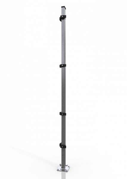 Universal-Eckpfosten ECONFENCE® BASIC LINE ZINK 60x40x2000MM